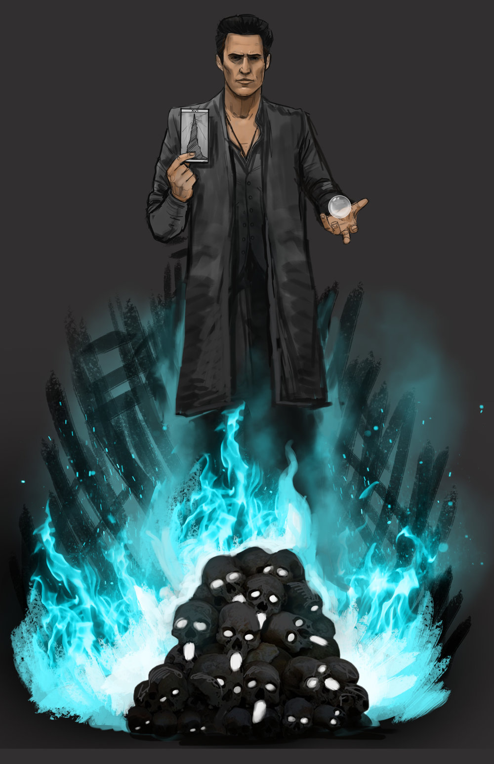 Concept Sketch for Matthew Mcconaughey as the Man in Black