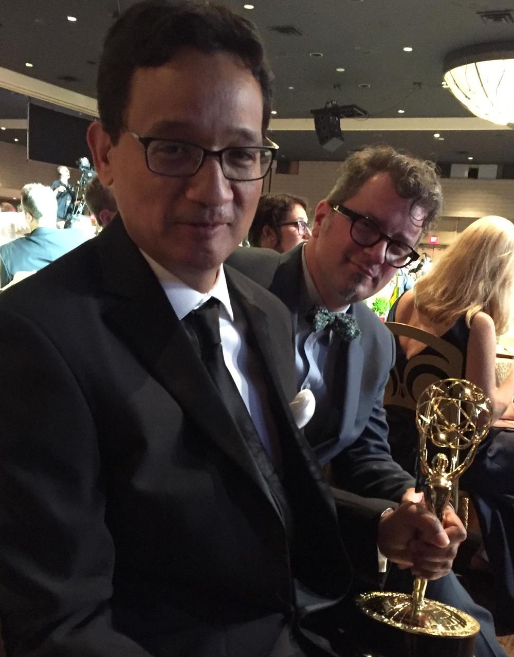At 2016Emmy Awards (with fellow winner J. Walter Hawkes)