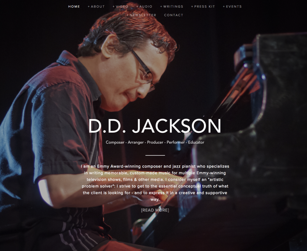 My new ddjackson.com website :-)