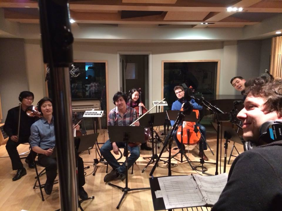 "Members of the Metropolis Ensemble dir. by Andrew Cyr recording my string arrangements for The Roots's CD ""...And Then You Shoot Your Cousin"""