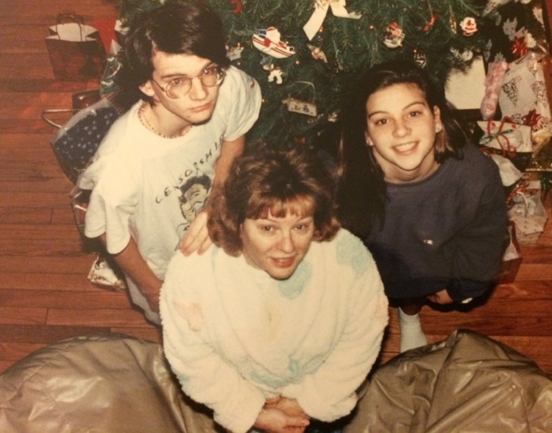 Young Ken Urban at Christmas with the family in 1992