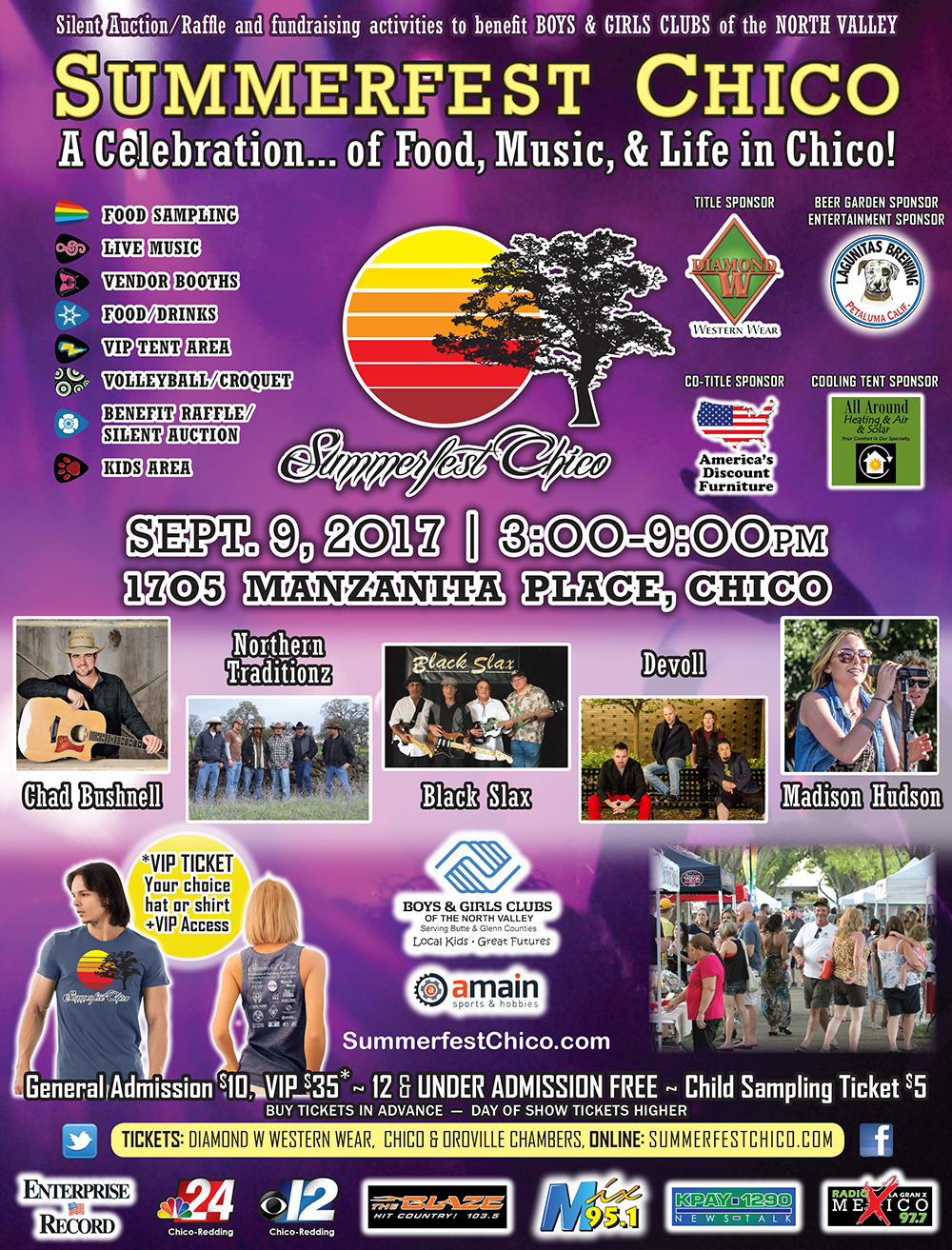 Only two weeks away. Do you have your tickets yet? If not get to it.  General Admission-$10 in advance, $15 at the gate  VIP- $35 in advance, $40 at the gate   https://www.purplepass.com/#158857