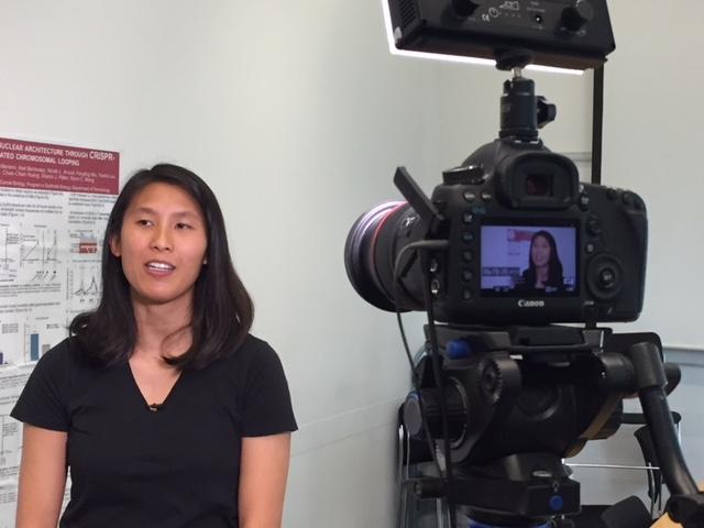 Filming an instructional on CRISPR for Erin's Jove paper!
