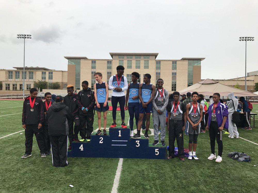 Our RBHS spring Track & Field 4x2 team who got third place in the Mullins-Russell invitational, Saturday, May 13, 2017