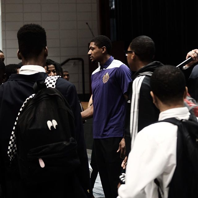 "TheVintageVandalism  We would like to thank the @washwizards and @bradbeal3 for giving our Young Kings a huge surprise with Mr Beal's ""principal for the day"" visit. Our Young Kings couldnt hold the excitement inside as Beal walked the halls checking into classrooms to make sure our Kings were on task... We greatly appreciate you taking the time out to build with our community here at RBHS. ""We are all in"""