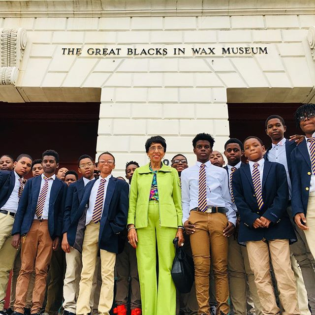 "RBHS:  Our Young Kings are enjoying their day out in Baltimore at the Great Blacks in Wax Museum. Every day is Black History. ""WE ARE ALL IN"""