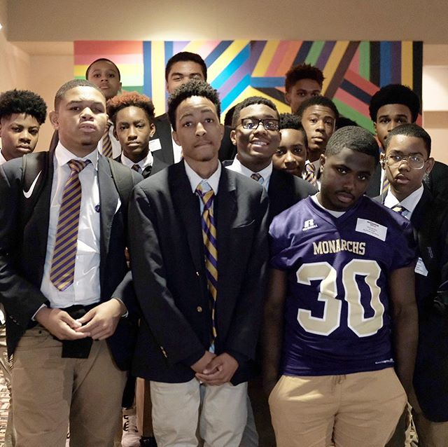 RBHS:  OUR Young Kings... Our Students of the month for grades 9-11 had the chance to see the pre-screening of #creed2 here in DC. The Director of the film expressed that he recently finished the final cut last Friday... we were some of the first to see the film before its official release later this month.  Thanks to @washwizards for giving us the opportunity to share this experience with you guys!