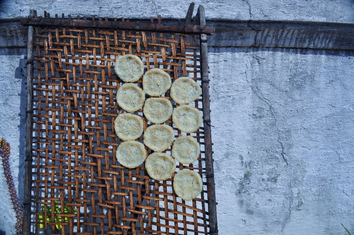 "In Laos, leftover rice is made into patties and dried in the sun to make these little rice crisps. Think of them as a way tastier version of those cardboard things your mom used to pack in your ""healthy"" lunch."