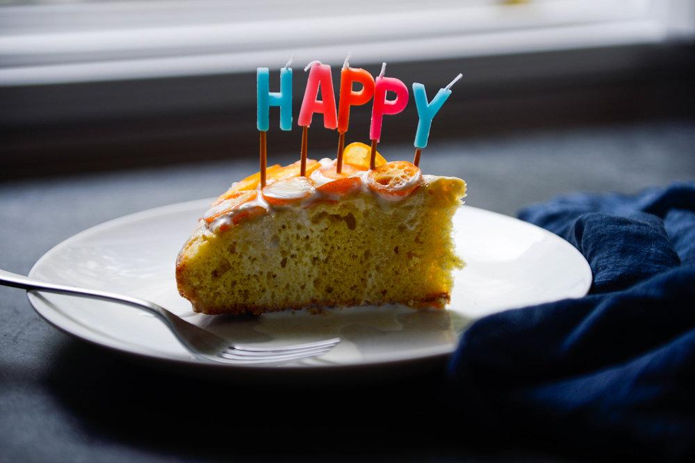Birthday tres leches cake