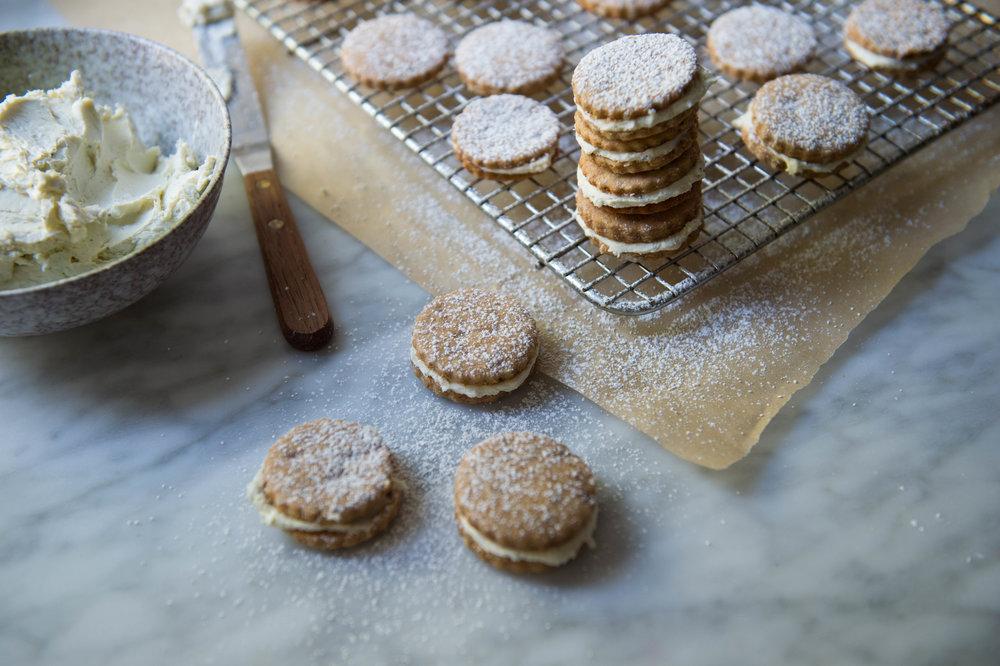 Honey, gorgonzola cookies