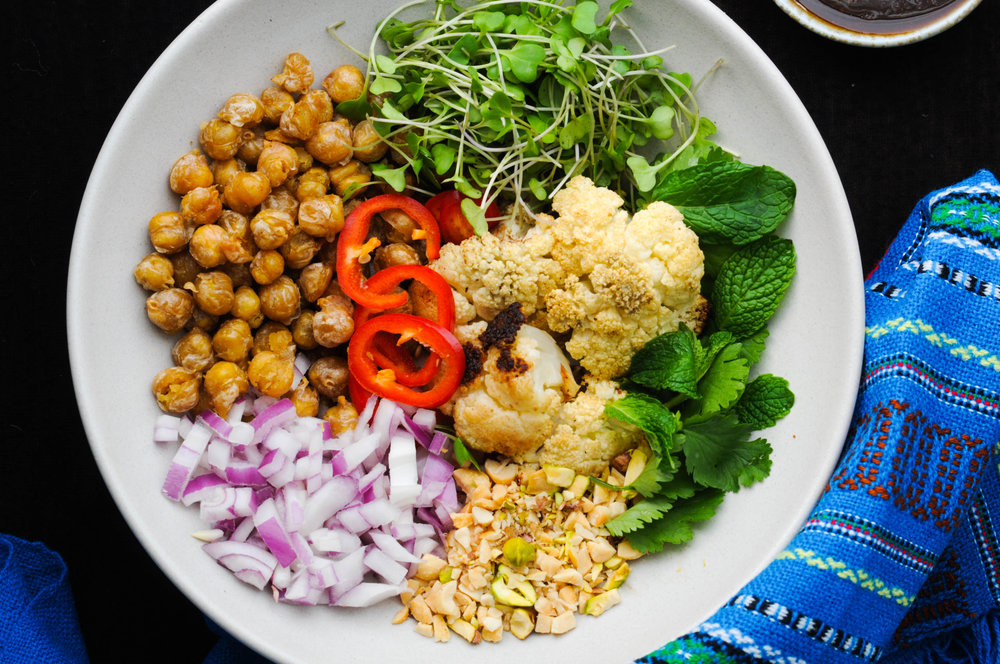 Chickpea mint bowl