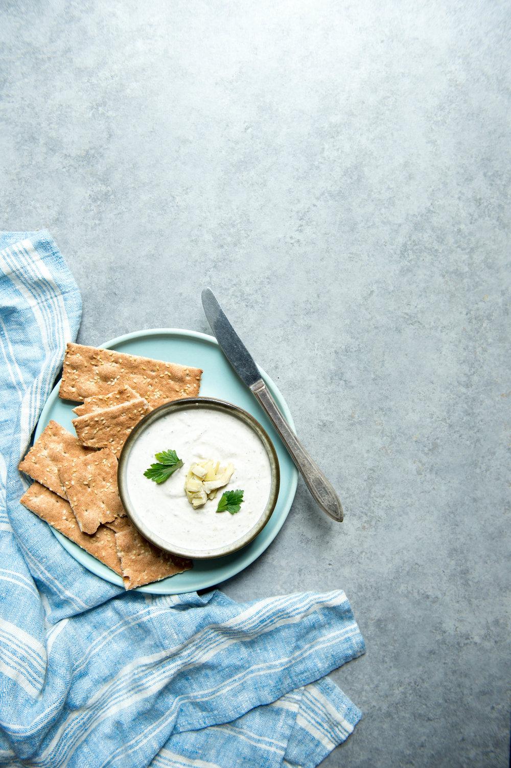 Sardine spread and crackers
