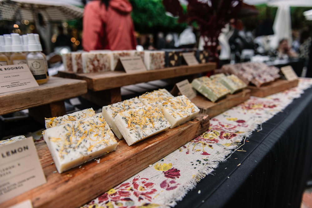 Handmade soaps at Makers Market.