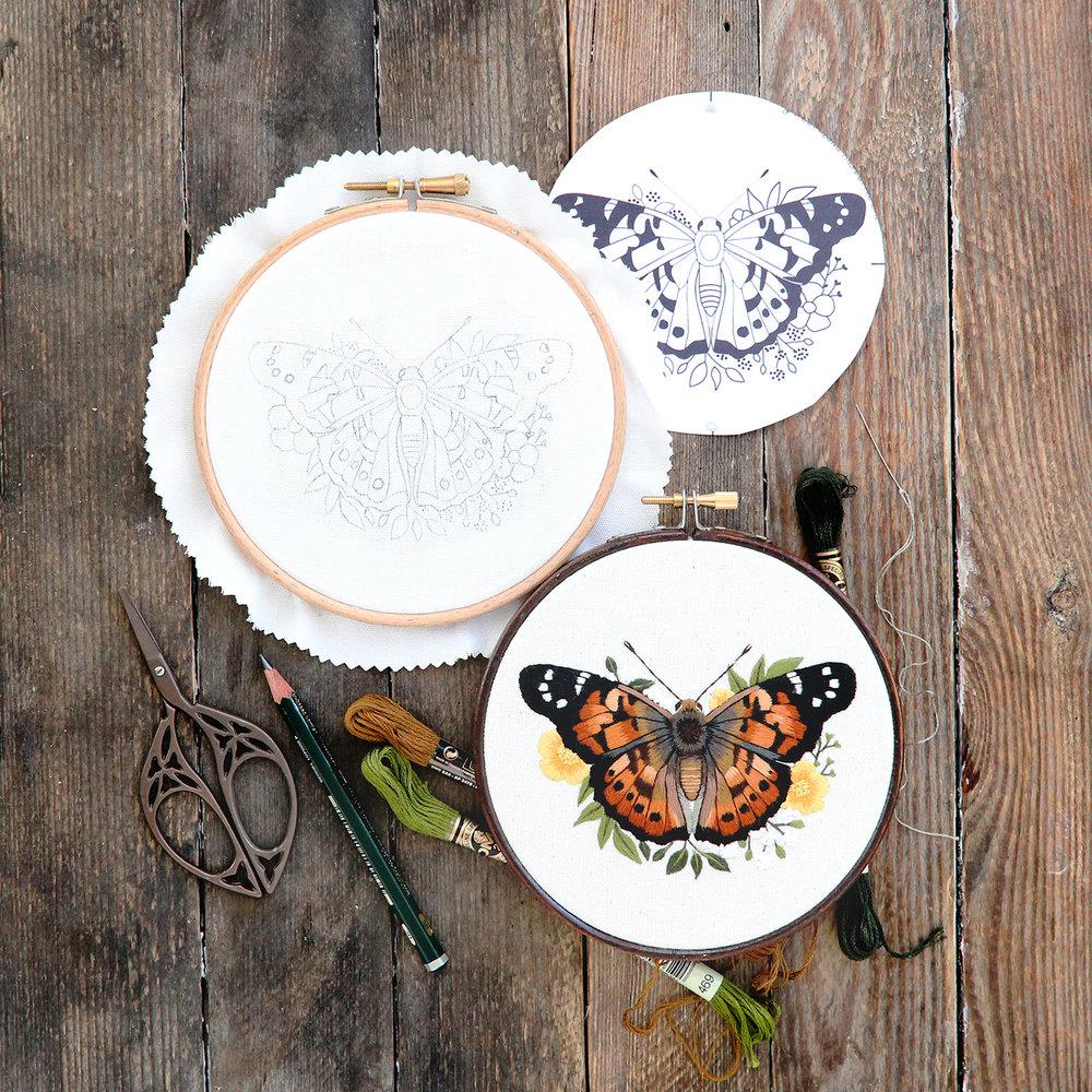 Painted_lady_embroidery_pattern_pdf_tutorial_kit_emillie_ferris_jpg