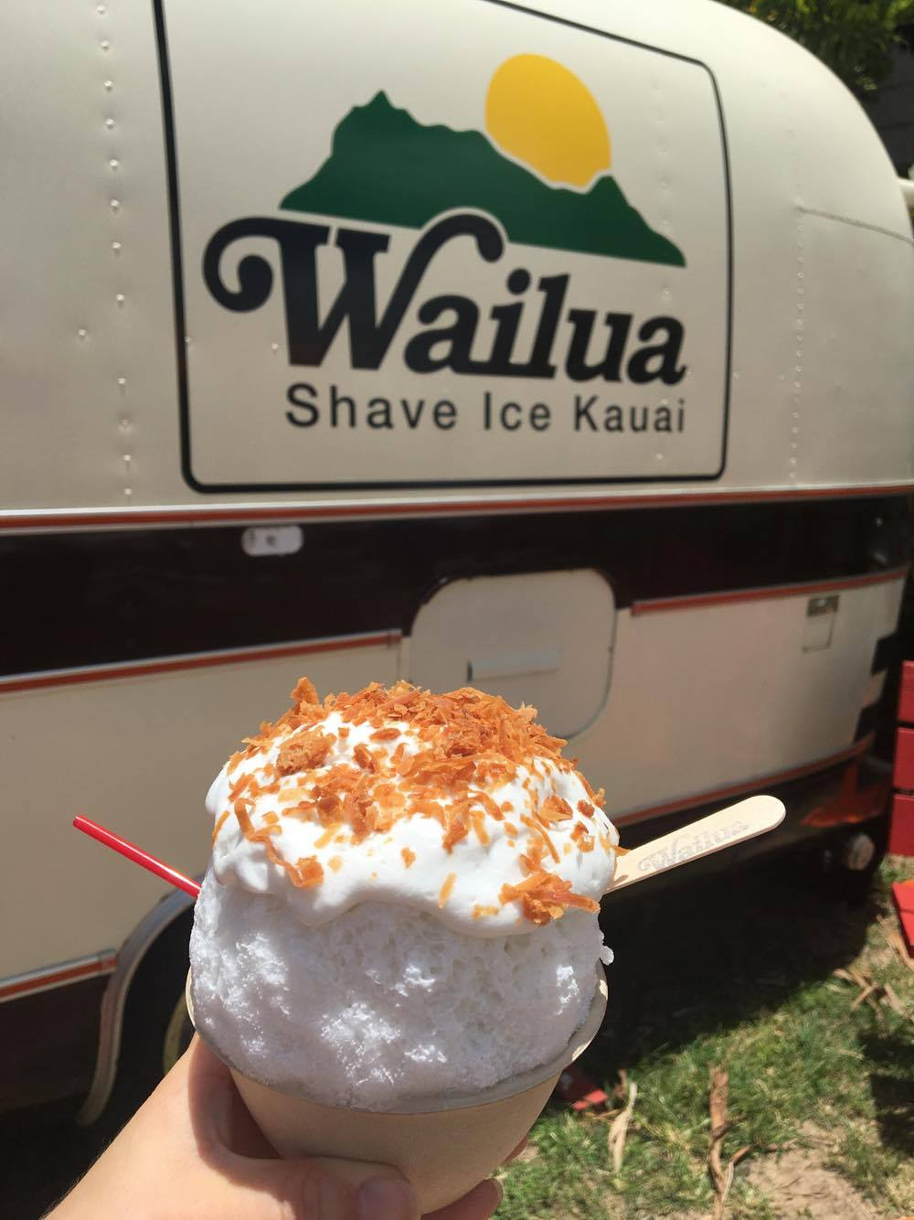 #1 Wailua Shave Ice -                      Personal Favorite:          Coconut x Coconut x Coconut:Coconut Milk, Haupia Foam & Roasted       Coconut Flakes