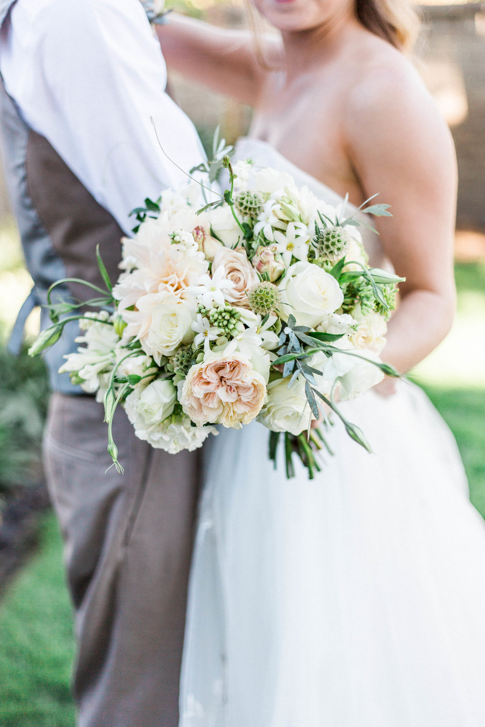 blush bridal bouquet by branches & vine