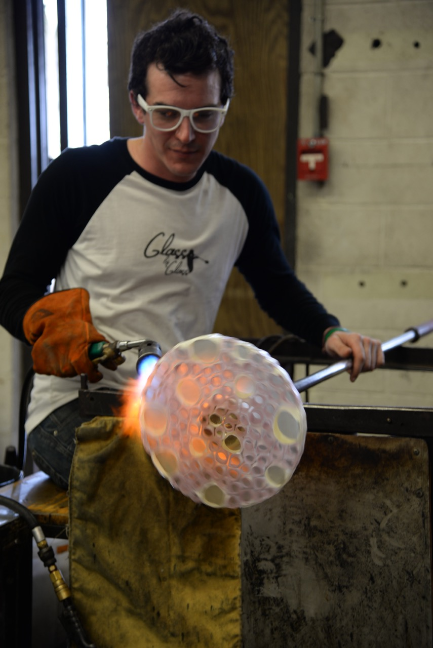 Johnny Glass will be demonstrating the art of glassblowing, live!