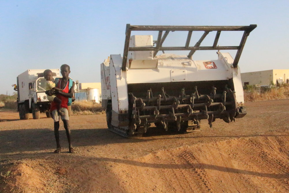 GCS vehicle as part of a mine clearing team in Sudan