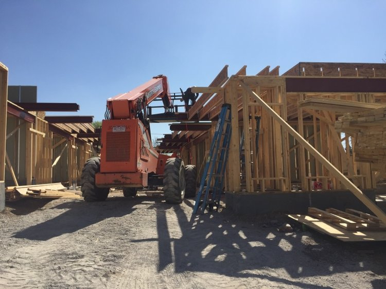 Framing and Steel work: 1220 is vertical — Row @ Perry Station