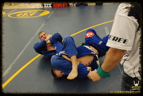 HFS competitor Nathan Dernovsek hitting an armbar for the win at the midwest's largest grappling tournament