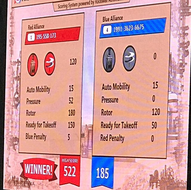 Very high score in semi-final match! #nefirst #nehartford #frc #omgrobots