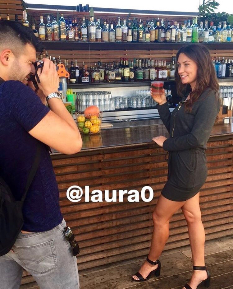 Lead Contributor Celso Oliveira shoots with Host Laura Odegard during a scheduled event.