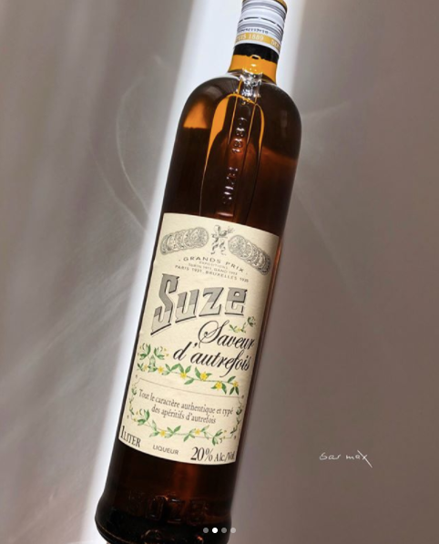 Bar Max's most indispensable bottle: Suze Saveur d' autrefois