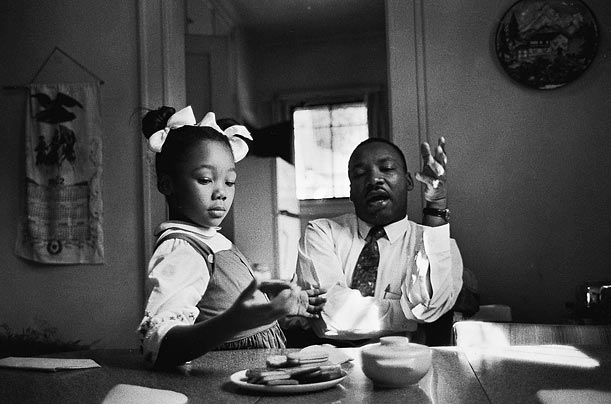 Martin Luther King and daughter Yolanda King.
