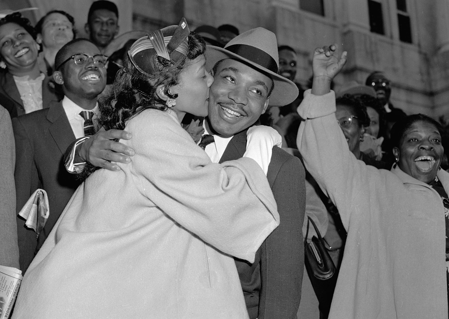 Martin Luther King with wife Coretta Scott King.
