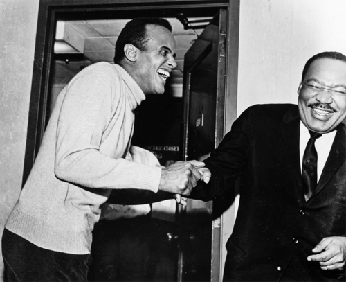 Harry Belafonte with Martin Luther King