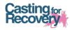 Logo of Casting for Recovery. An organization that has as mission: To enhance the quality of life of women with breast cancer through a unique program that combines breast cancer education and peer support with the therapeutic sport of fly fishing.