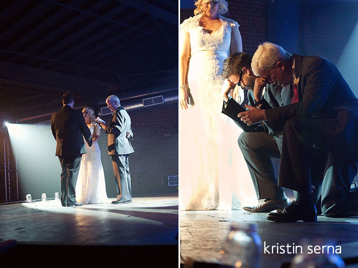 Nashville Wedding Photography |Tebowing Onstage in Cannery Ballroom at Mercy Lounge