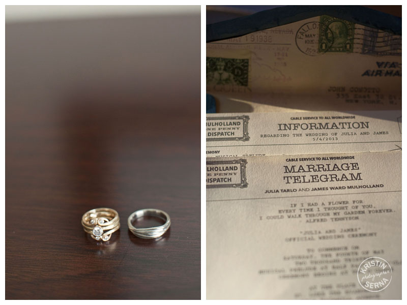 Rings & Invitation | Kristin Serna Wedding Photography