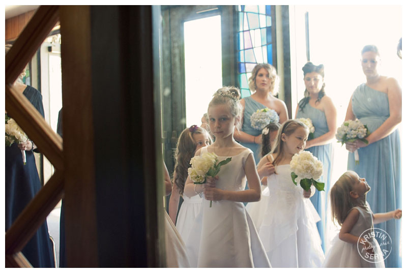 Bridal Party Waiting for the Ceremony | Kristin Serna Wedding Photography