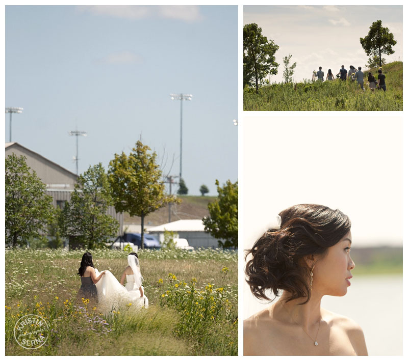 bride in a field | photography by Kristin Serna