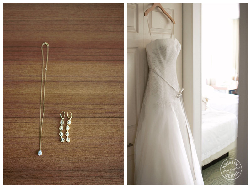 Wedding Dress & Jewelery | Kristin Serna Photography