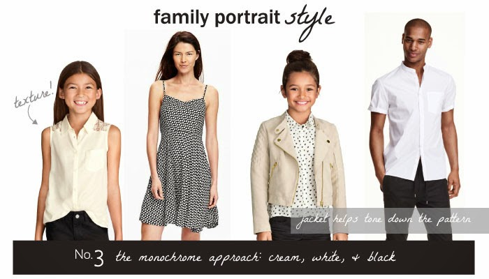 Monochrom Family Portrait Outfit Inspiration from Kristin Serna, Photographer
