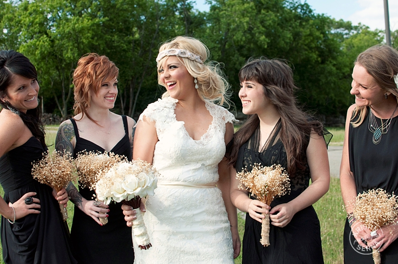 Black Bridesmaids Dresses in Different Styles