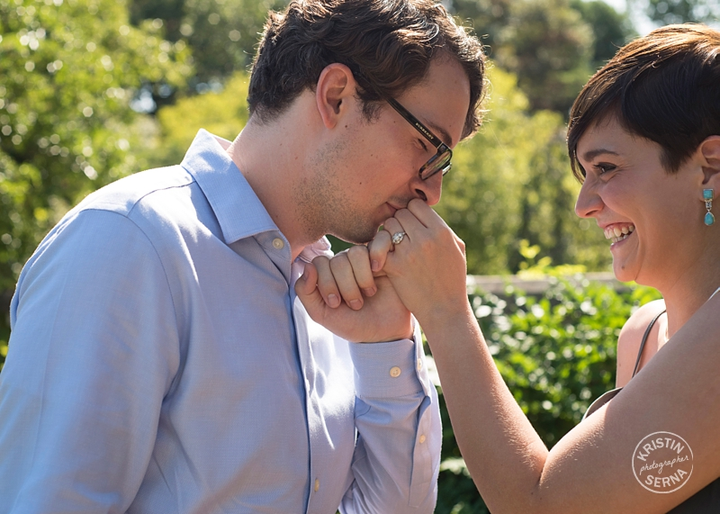 Kissing Hand Engagement Photo