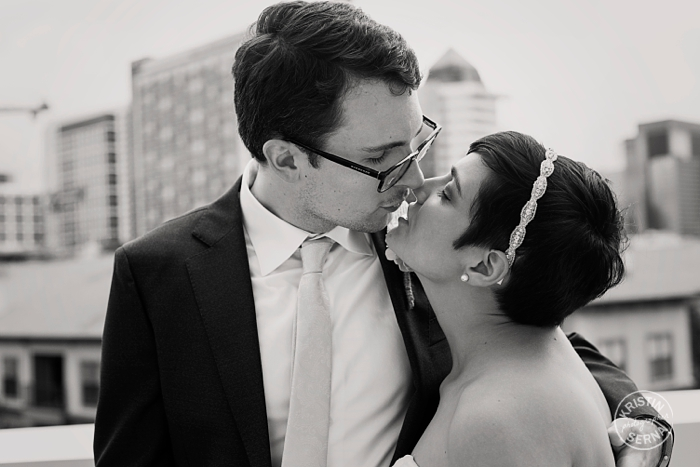 Black and White Wedding Photography by Kristin Serna