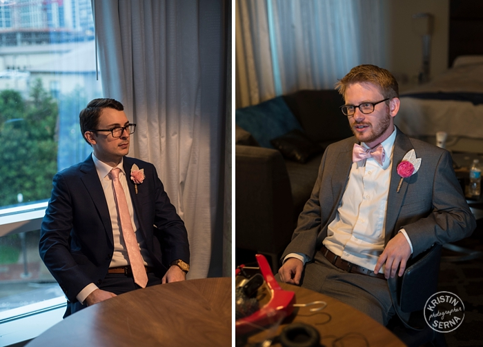 Groom and Best Man, Wedding Photography by Kristin Serna