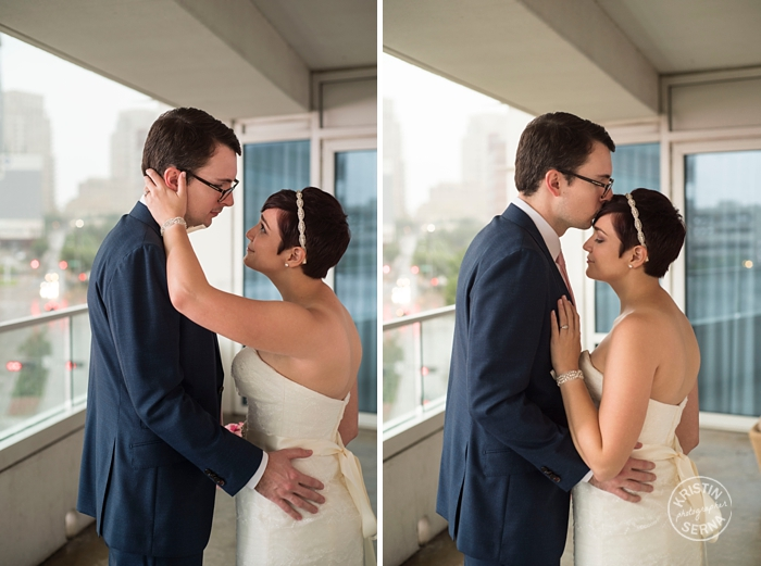 First Look Forehead Kisses Wedding Photography by Kristin Serna