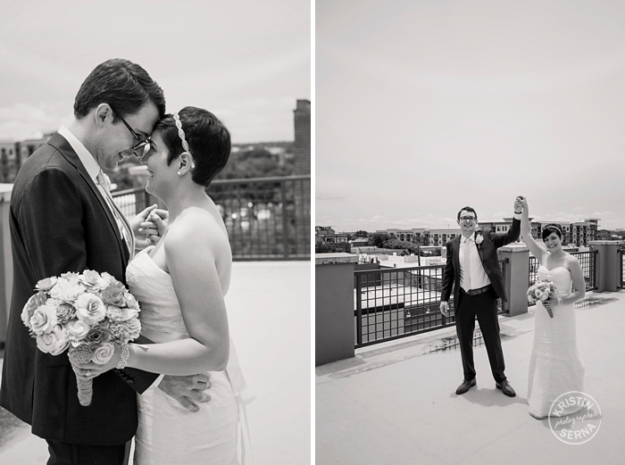 Rooftop Wedding Photography by Kristin Serna
