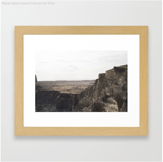 Western Iceland Framed Print from my Iceland Collection