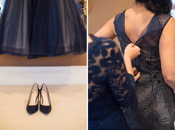 Blue Wedding Dress - Intimate Wedding Photography by Kristin Serna -  Getting Ready