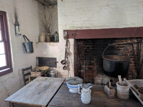 The kitchen. Imagine working there on a hot Virginia day.
