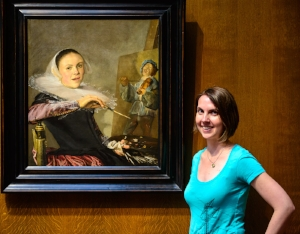 My dad made me pose in front of Judith Leyster's self-portrait. But yeah, she's pretty awesome.