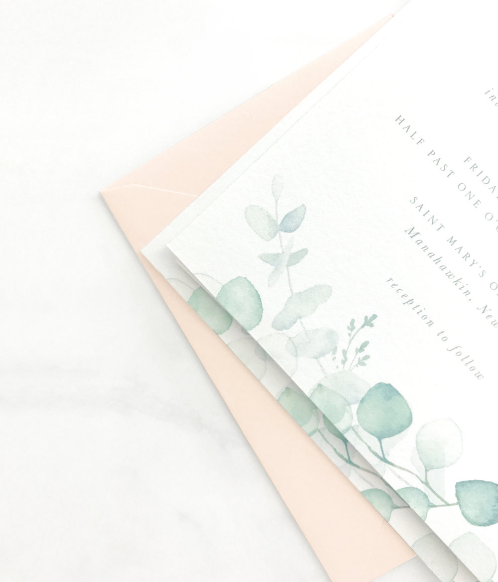 Watercolor Eucalyptus Invitation