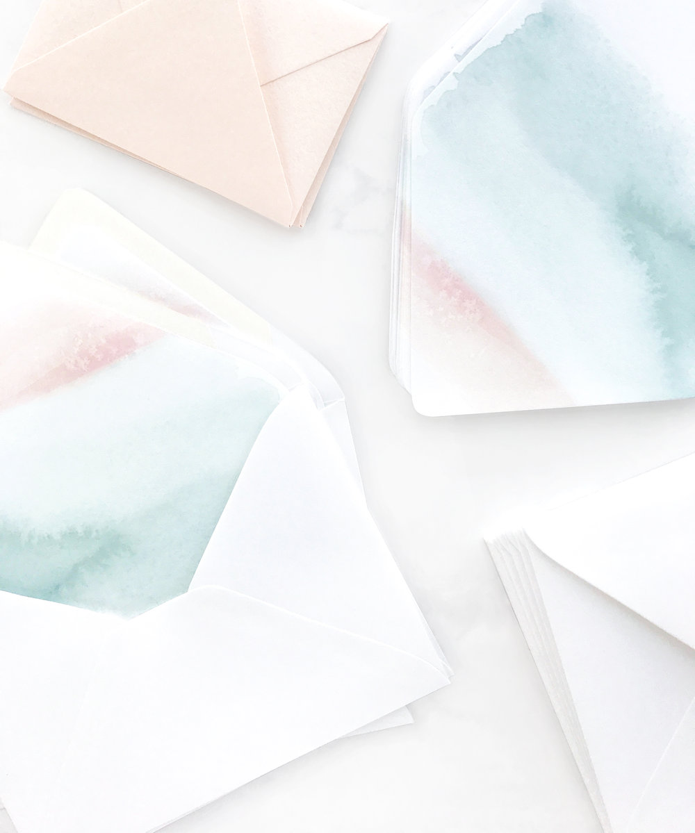 Watercolor Wash Envelope Liners