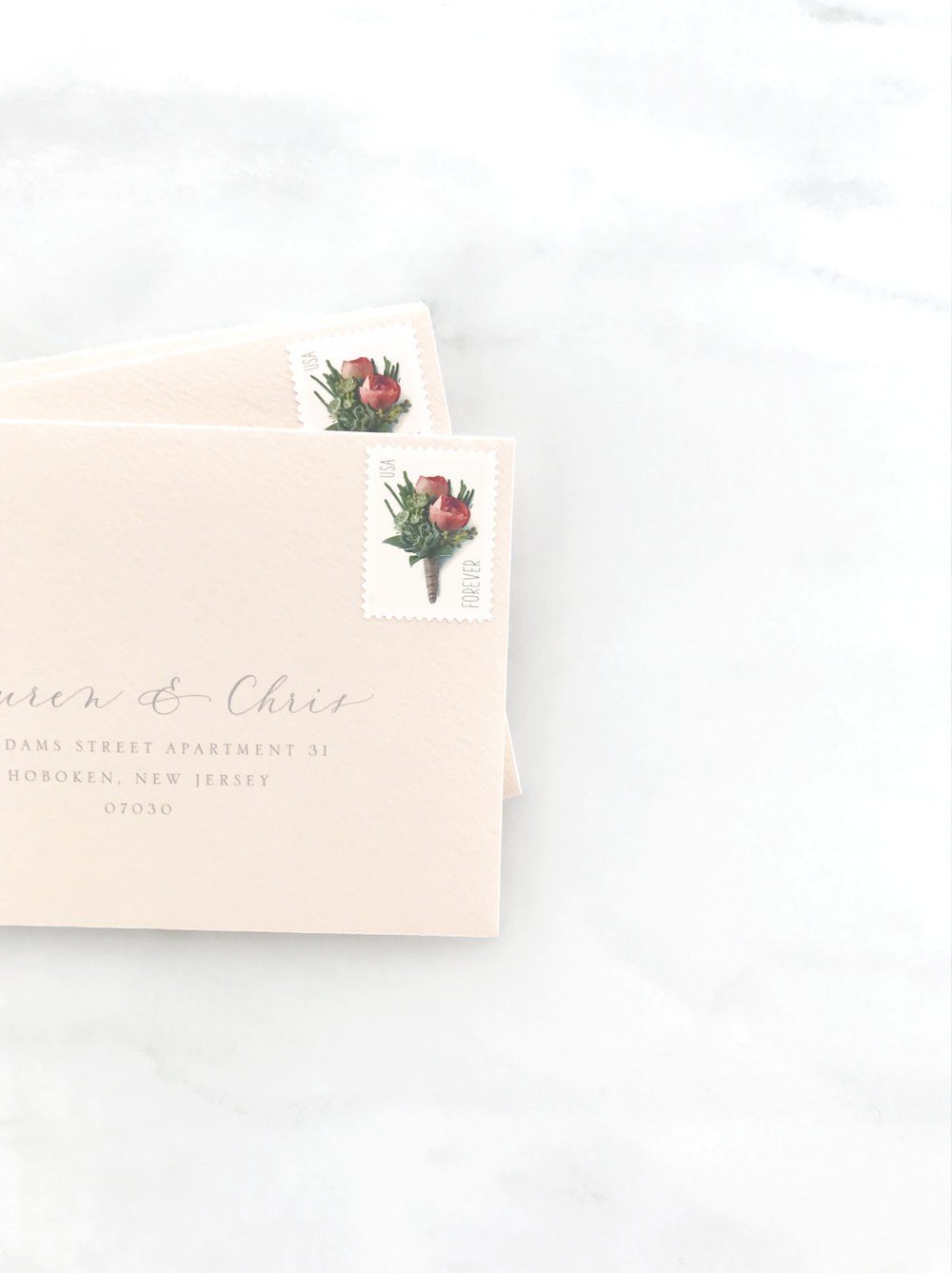Blush RSVP Envelope